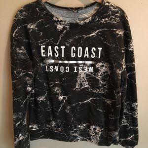 East Coast West Coast Marble Shirt